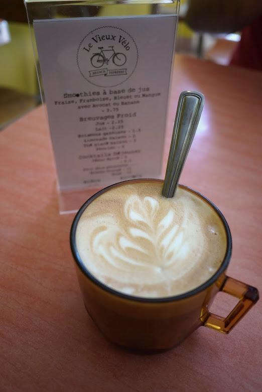Le Vieux Vélo's coffee was  excellent