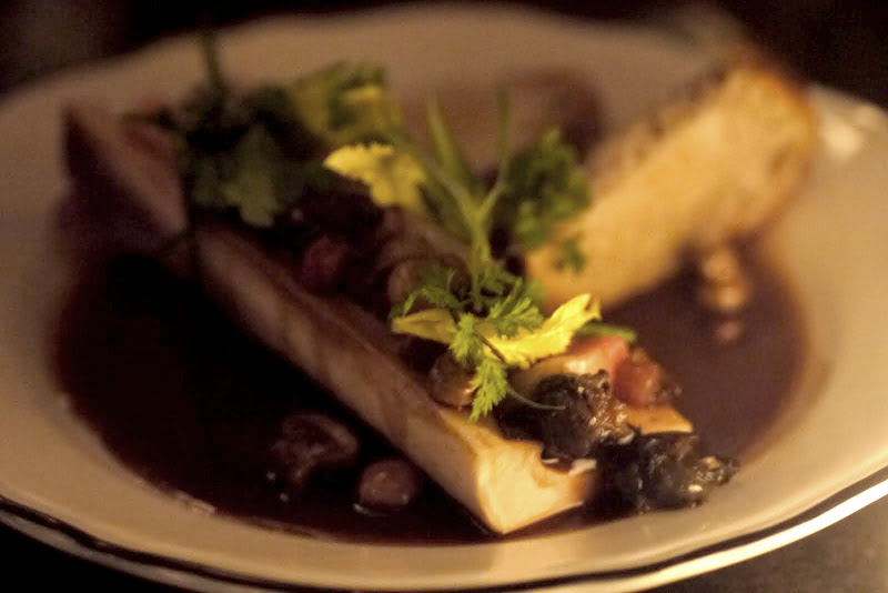 Smoked Bone Marrow with Poached Snails