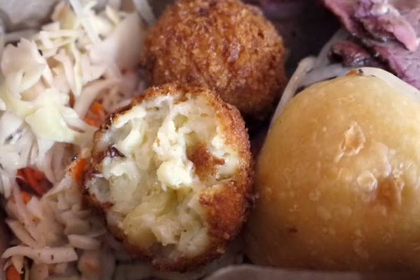 Yes!  Fried mac and cheese balls!