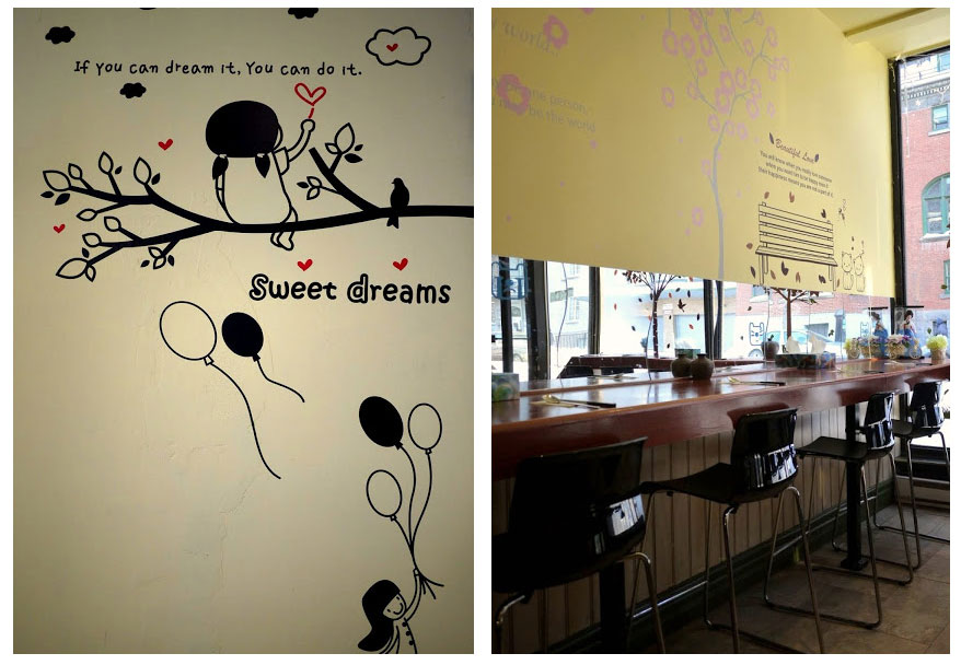 GaNaDaRa's decor: one of the cutest eateries in town.